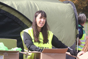 Jo volunteering at the Abingdon Marathon
